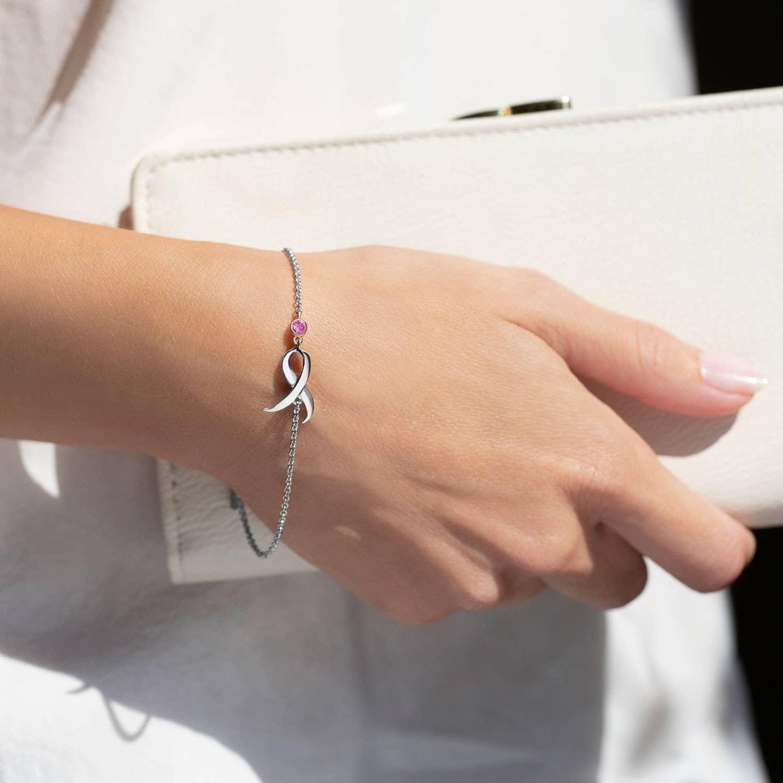Susan G Komen Shining Strength Bracelet featuring Pink Sapphire by Tacori