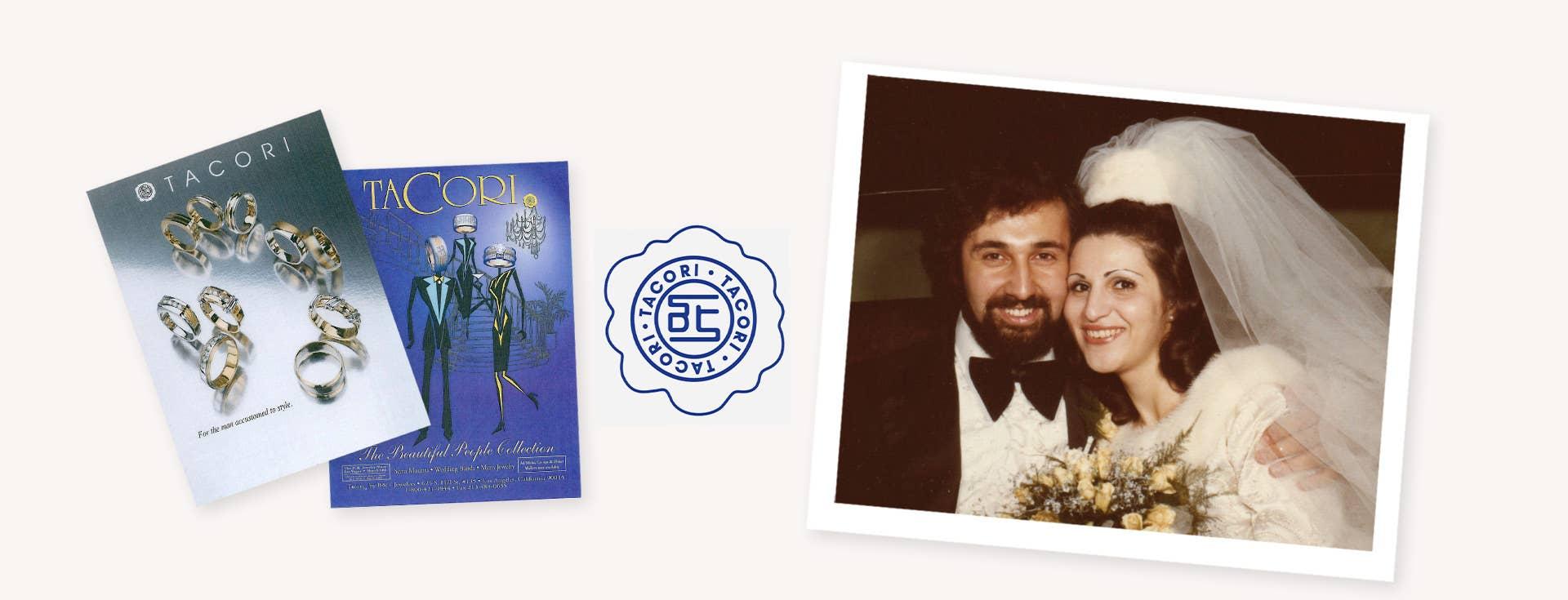 Old Tacori Print Ads, Tacori Logo, and Haig and Gilda Wedding photo
