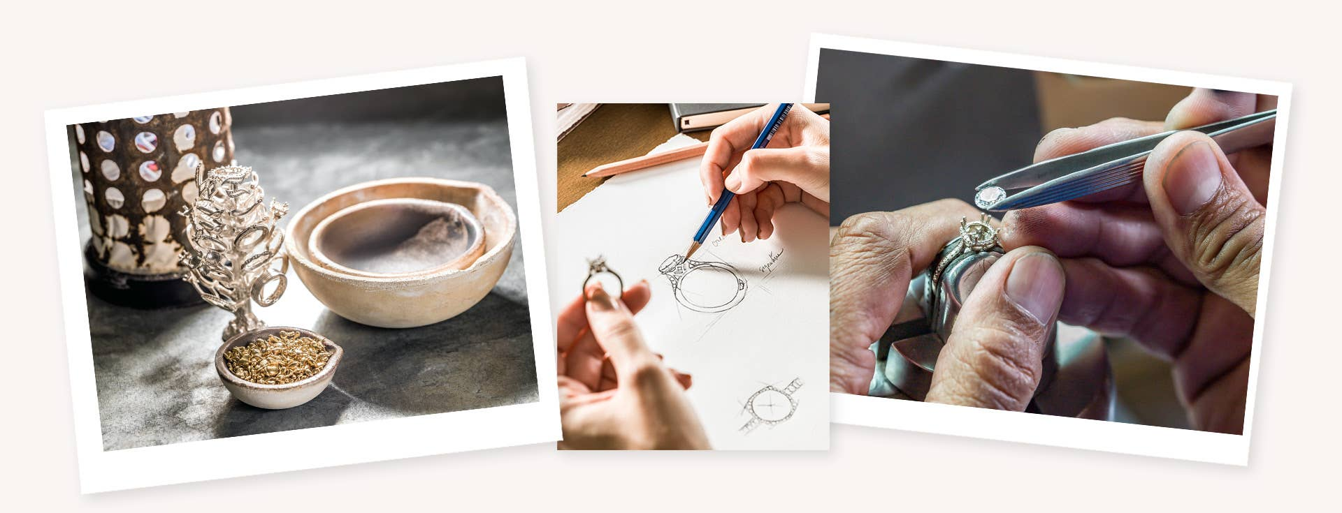 Images of Tacori Studios and handcrafted process