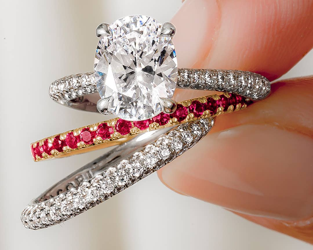 Custom sapphire ring by Tacori