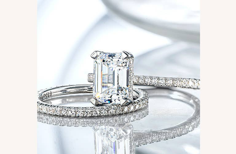 Simply Tacori Solitaire Engagement and Wedding Ring