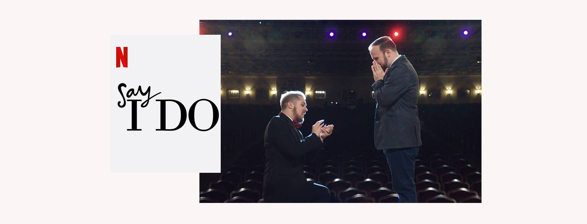 Image of Man proposing to his boyfriend on Say I Do