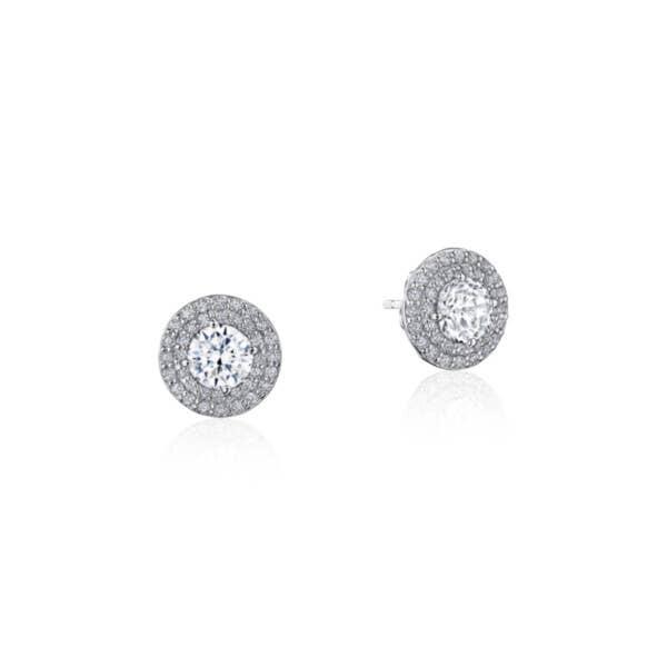 Double Bloom Diamond Earring