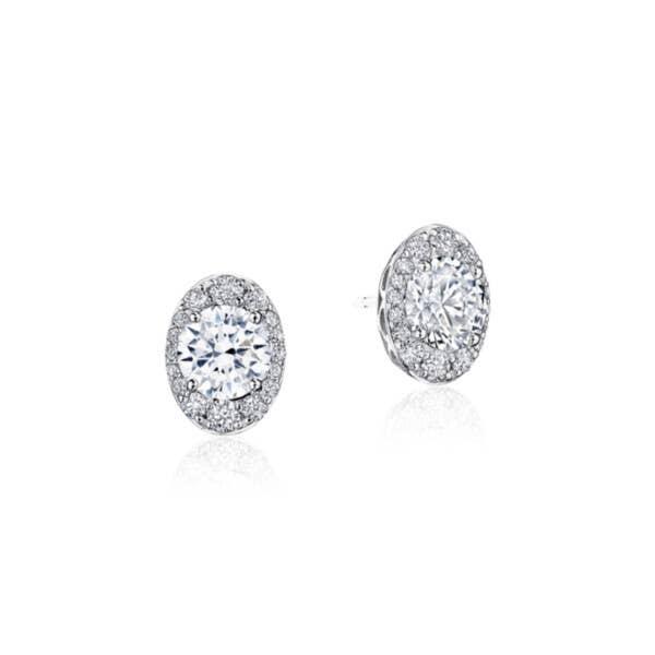 Oval Bloom Diamond Earring