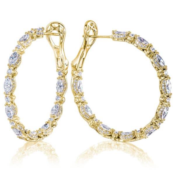 FE813Y Classic Crescent RoyalT Hoop Earrings