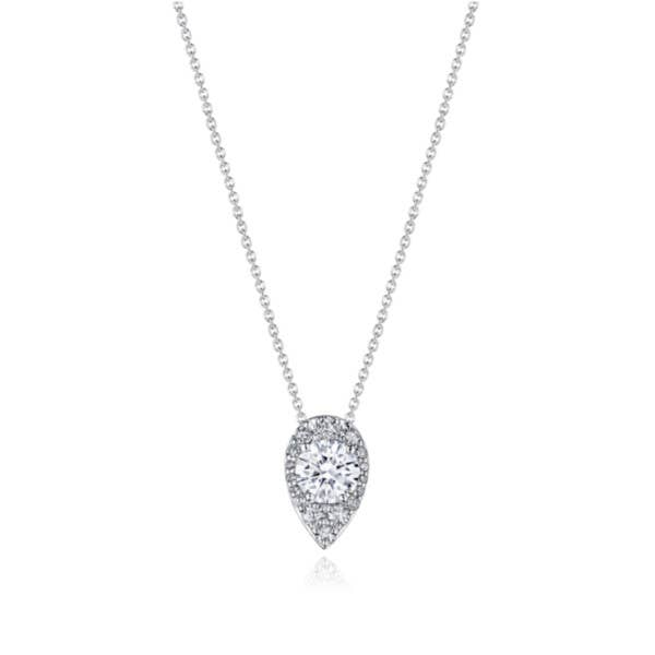 "17"" Pear Bloom Diamond Necklace"
