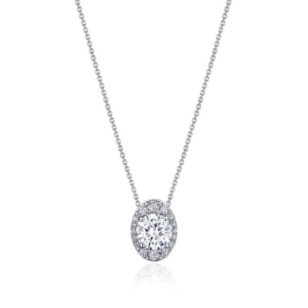 """17"""" Vertical Oval Bloom Diamond Necklace"""