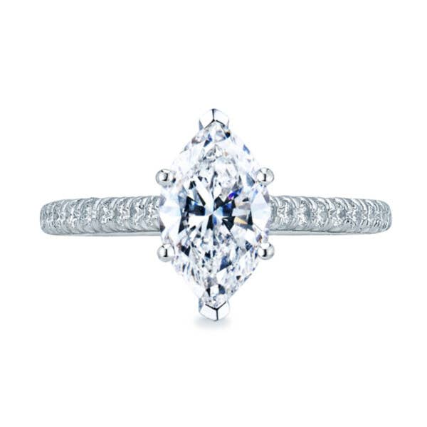 Marquise Petite Crescent engagement ring by Tacori - ht2546mq
