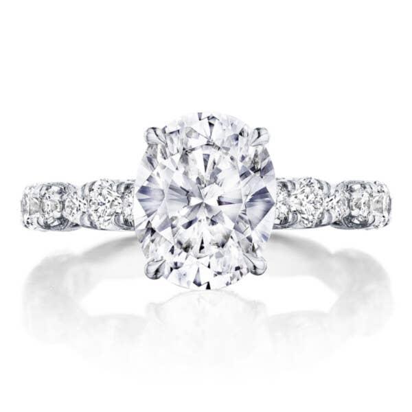 RoyalT Engagement Ring HT2654OV10X8 in Platinum