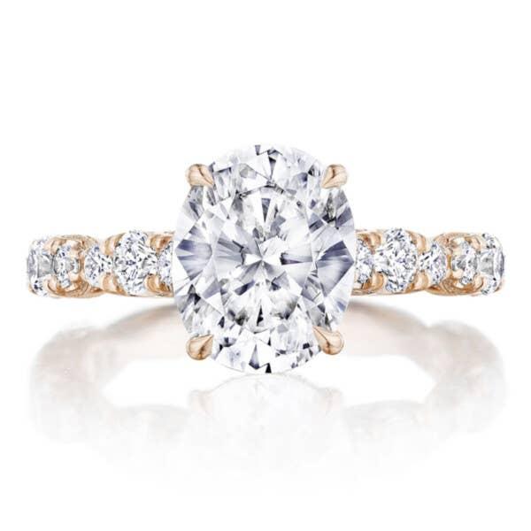 RoyalT Engagement Ring HT2654OV10X8 in 18k Rose Gold