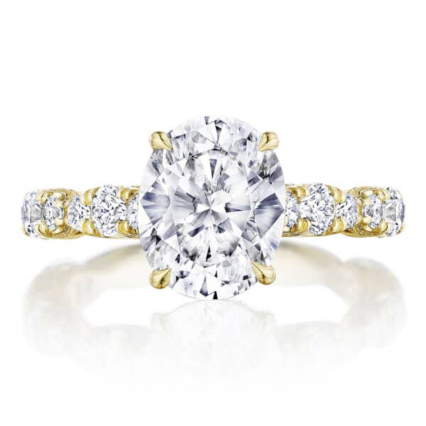 RoyalT Engagement Ring HT2654OV10X8 in Yellow Gold