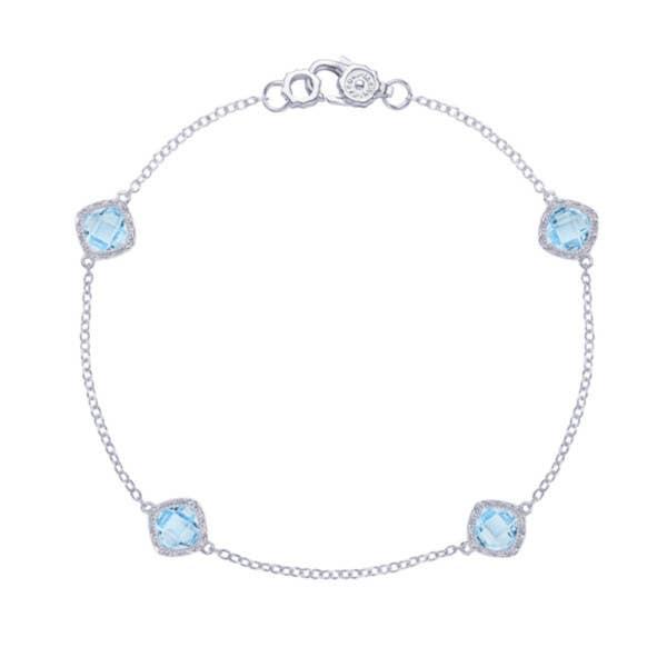 4-station bracelet with Sky Blue Topaz