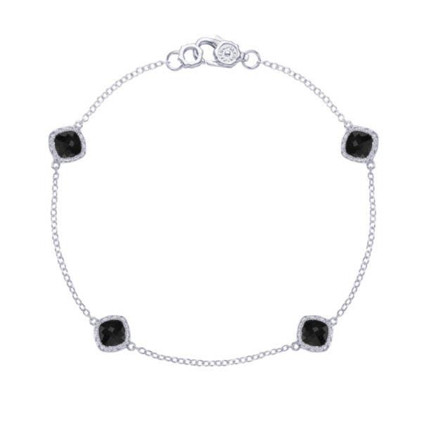 4-station bracelet with Black Onyx