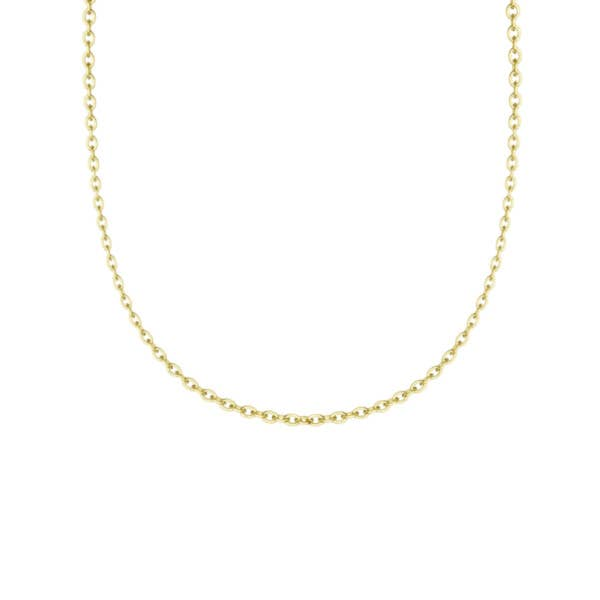 """Yellow Gold 18"""" Chain - SN24018FY"""