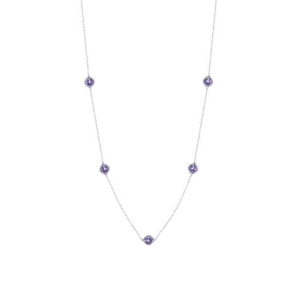 5-station necklace with Amethyst