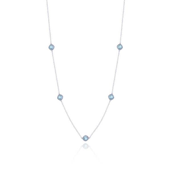 5-station necklace with Sky Blue Topaz