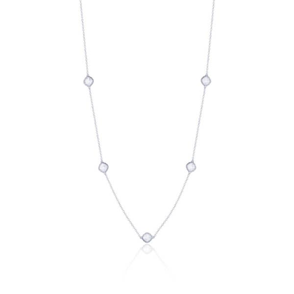 5-station necklace with Chalcedony