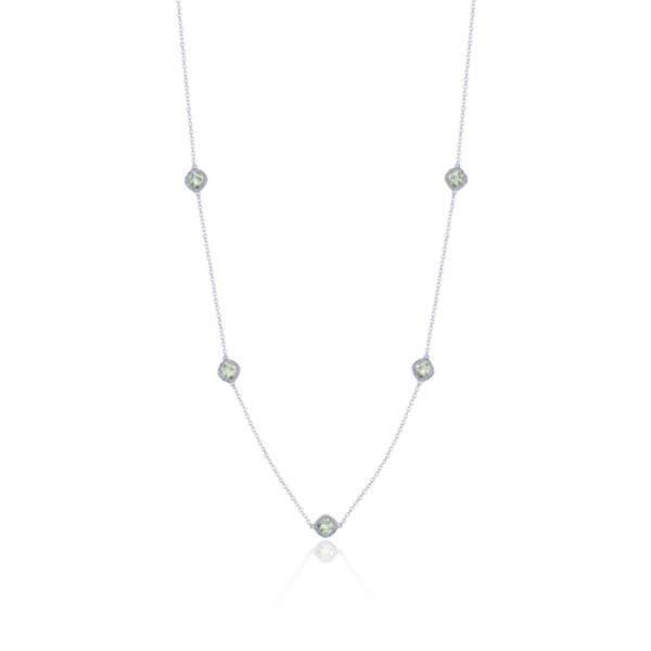 5-station necklace with Prasiolite