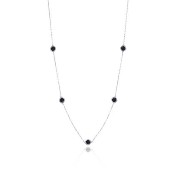 5-station necklace with Black Onyx
