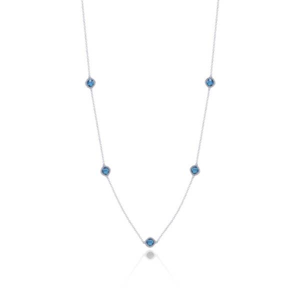 5-station necklace with London Blue Topaz