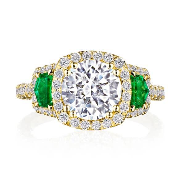 Tacori RoyalT Engagement Rings - HT2679CU8EMY