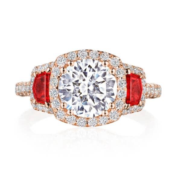 Tacori RoyalT Engagement Rings - HT2679CU8RBPK