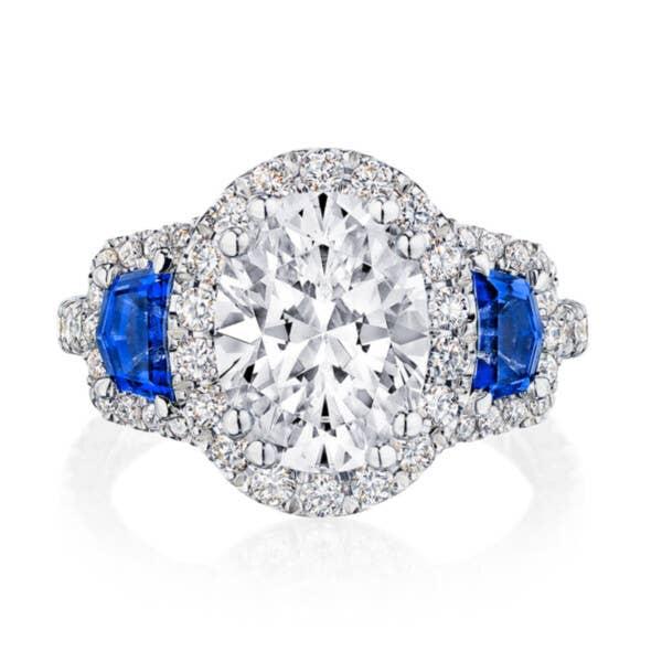 Tacori RoyalT Engagement Rings - HT2679OV105X8BS