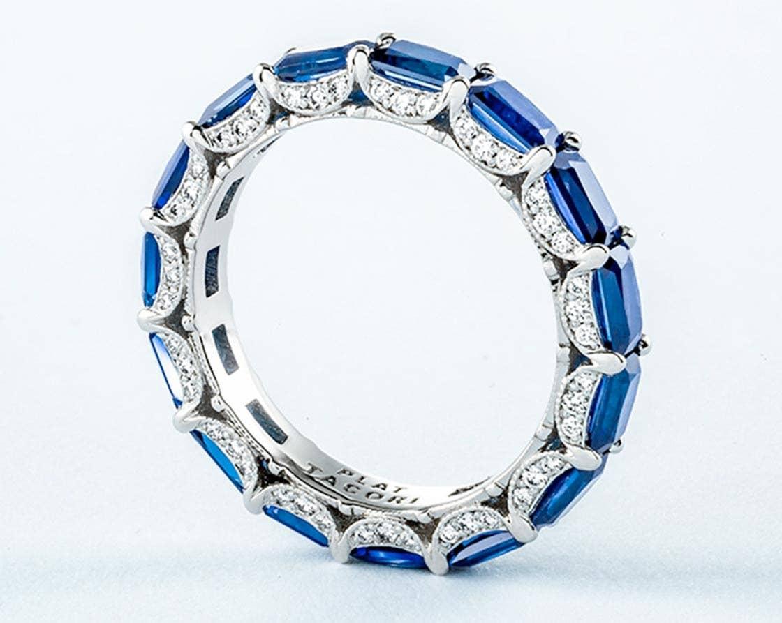 Blue sapphire anniversary band