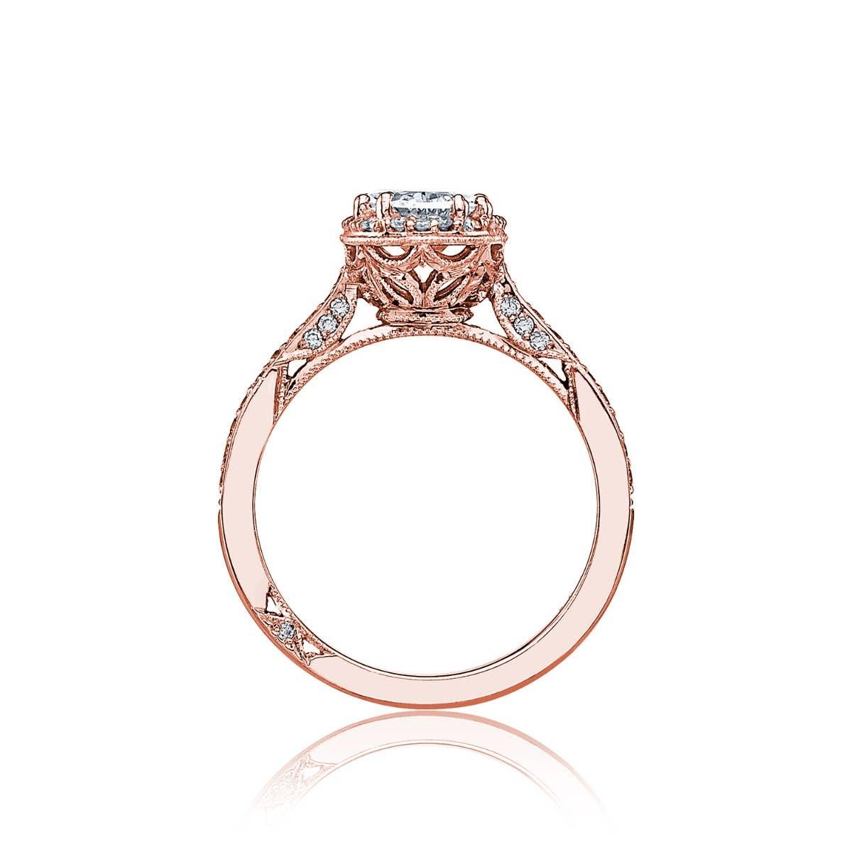 Dantela engagement ring by Tacori on white background