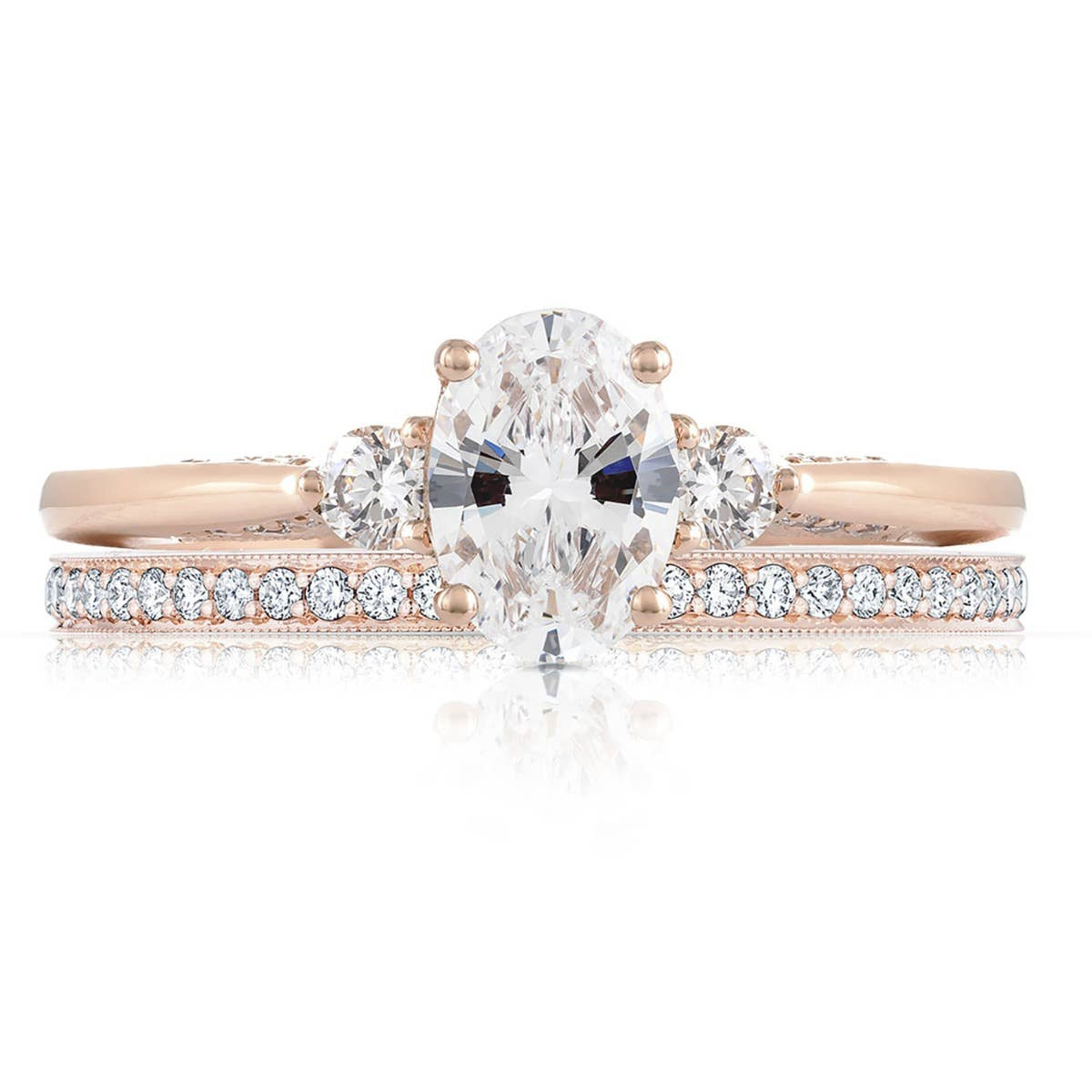 Simply Tacori engagement ring by Tacori on white background