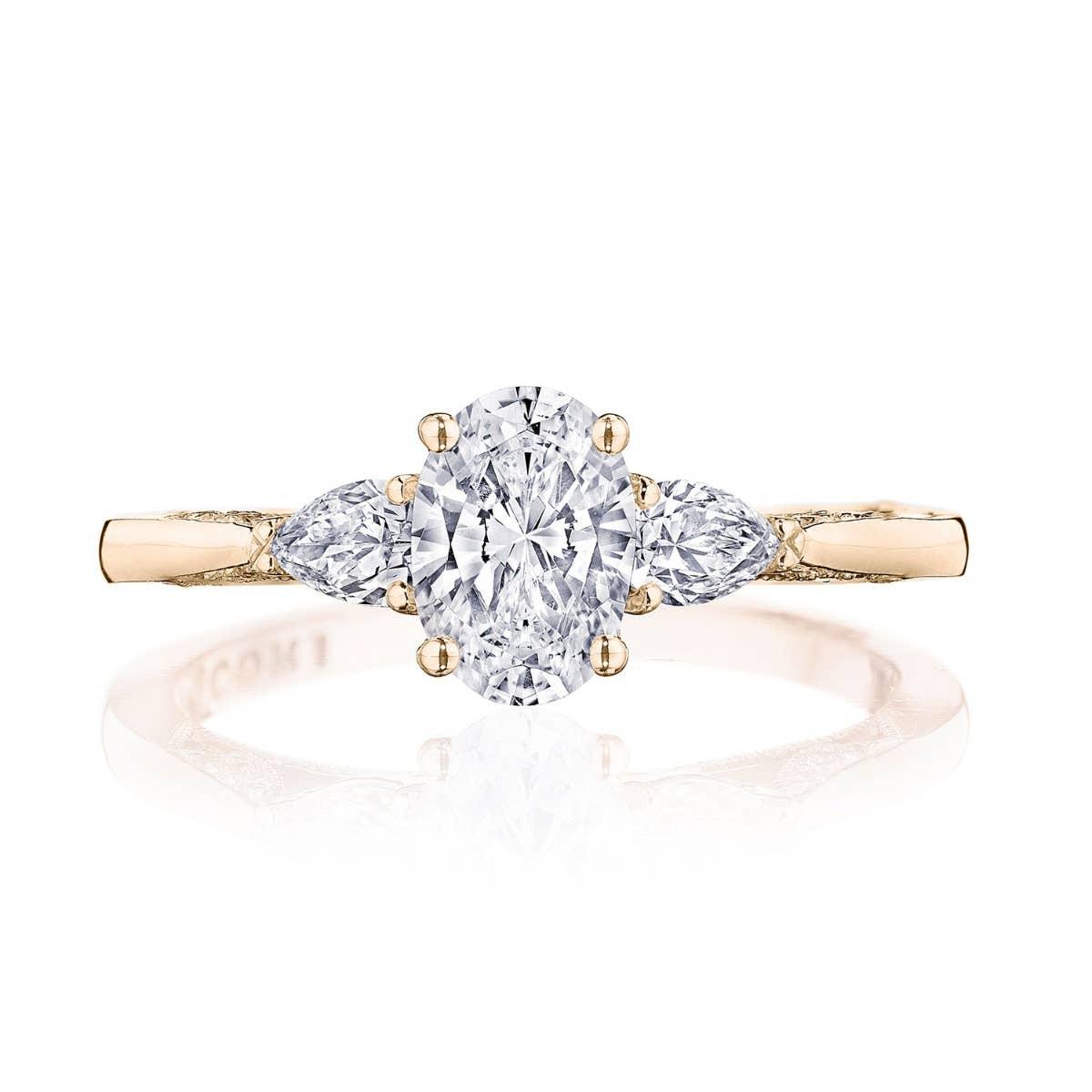 Simply Tacori Three-Stone Engagement Ring