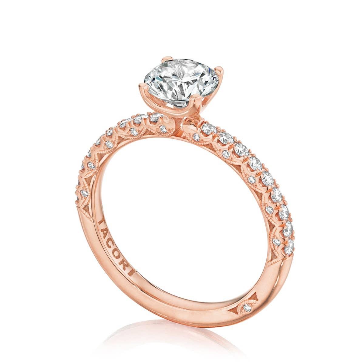 Round engagement ring from Tacori