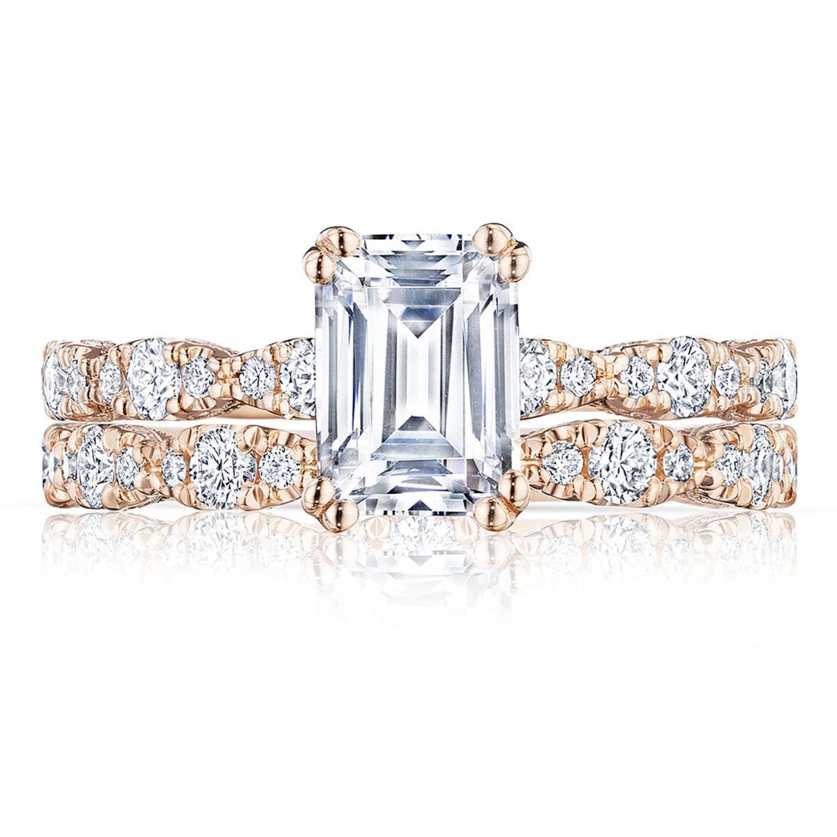 Petite Crescent engagement ring from Tacori