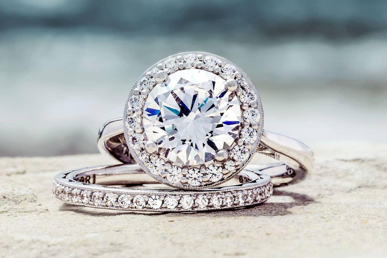 Close up of Tacori's RoyalT ring