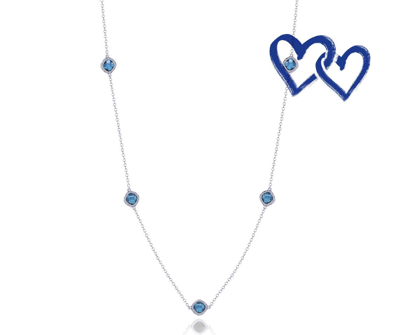 Crescent Embrace 5 Station Necklace