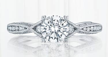 Milgrain engagement ring by Tacori