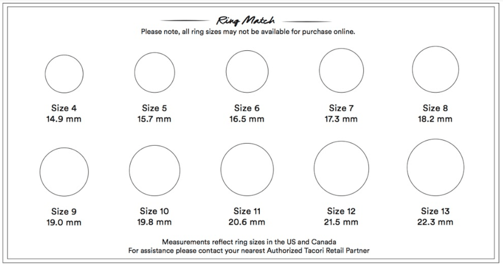Download Tacori's Ring Size Guide
