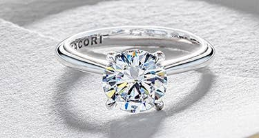 A round-cut engagement ring from Tacori