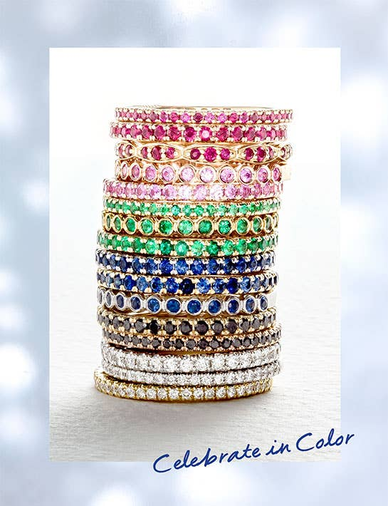 Stacked Rainbow Bands