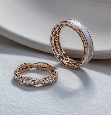 Matching pair of Tacori wedding bands