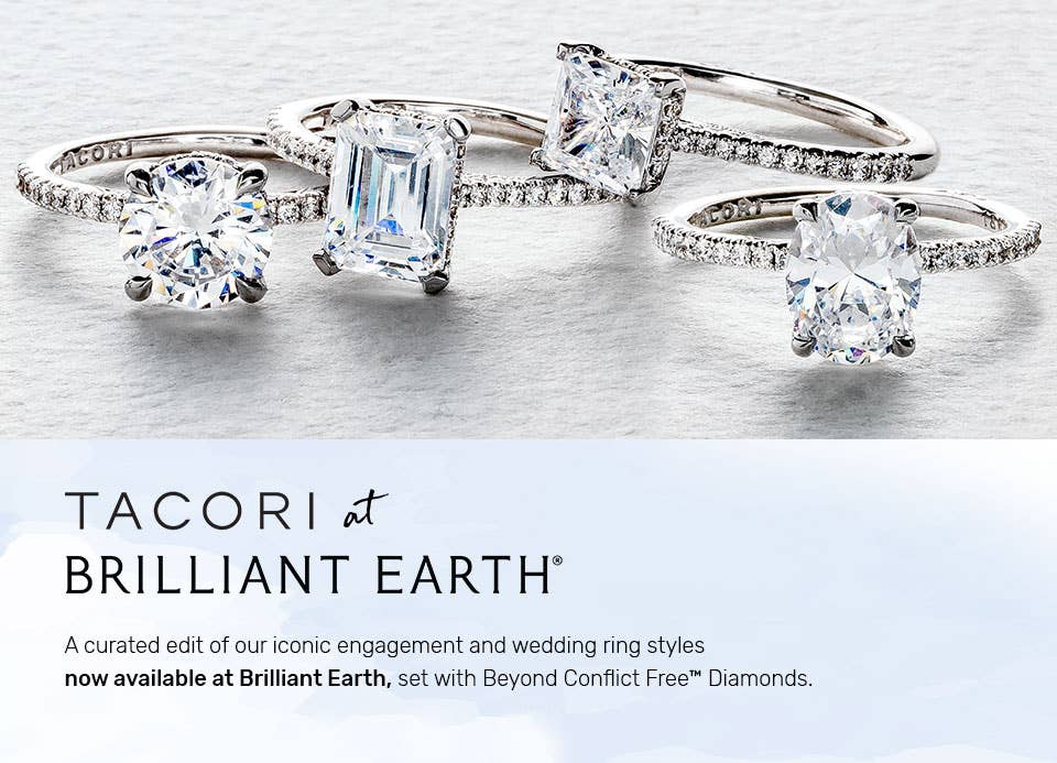 The limited selection of Tacori engagement rings available at Brilliant Earth