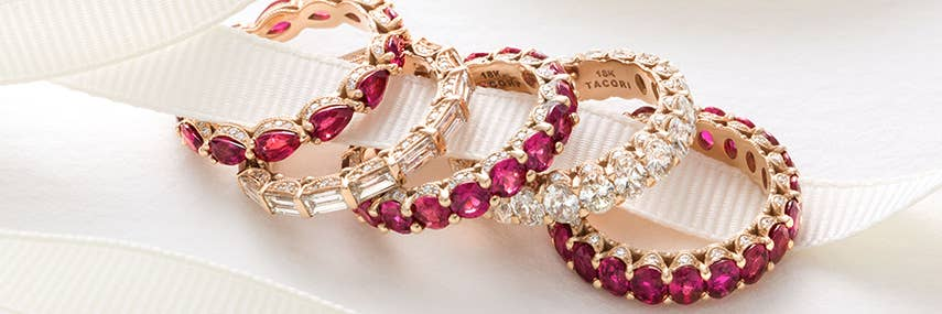 Ruby and Diamond Anniversary Bands